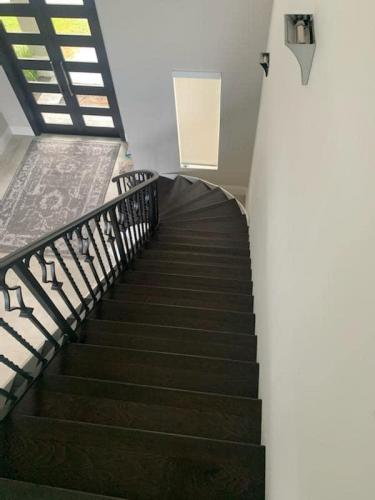 Dark Hardwood Staircase