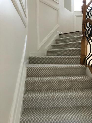 Lightly Colored Staircase Carpet