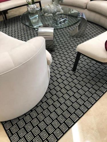 Dark Patterned Area Rug